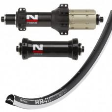 DT Swiss RR411 / Novatec AS61CB FS62CB Straightpull wheelset 1420g